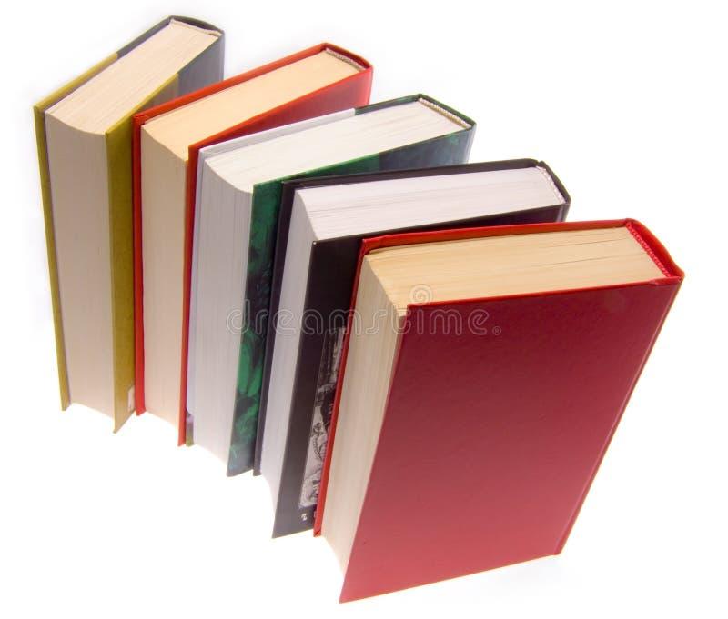 Die Bücher kombiniert durch einen Stapel lizenzfreie stockbilder