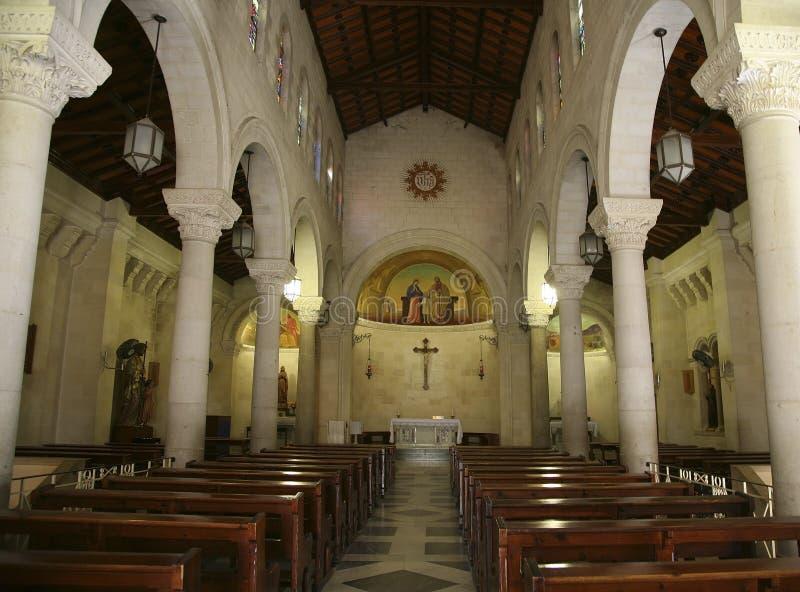 Die Basilika der Anzeige Israel, Nazareth stockfotografie