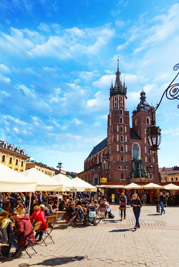Die Basilika der Heiliger Maria in Krakau, Polen stockfoto