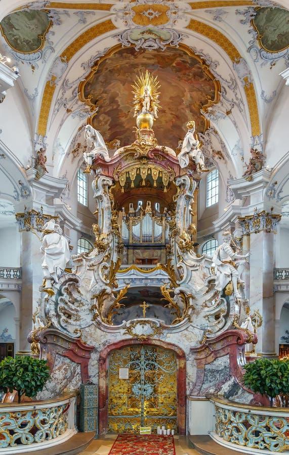 Die Basilika der Vierzehn Nothelfer, Deutschland lizenzfreie stockbilder