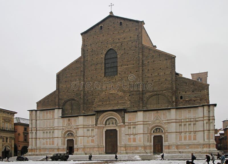 Die Basilika von San Petronio im Bologna lizenzfreie stockbilder