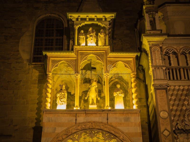 Die Basilika von Santa Maria Maggiore ist eine Kirche in Bergamo, eins der schönen Stadt in Italien lizenzfreie stockfotografie