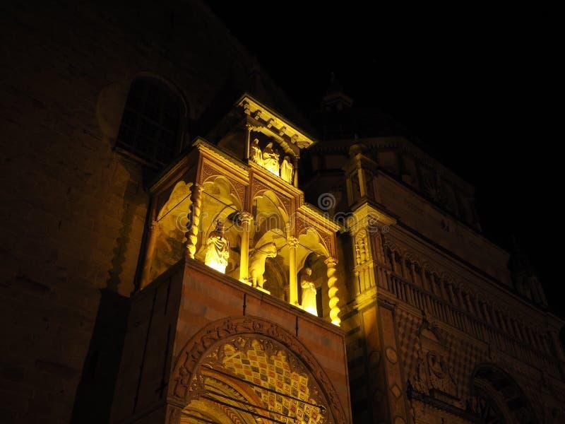 Die Basilika von Santa Maria Maggiore ist eine Kirche in Bergamo, eins der schönen Stadt in Italien lizenzfreie stockfotos