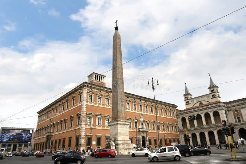 Die Basilika von St. John Lateran in Rom Italien stockbild