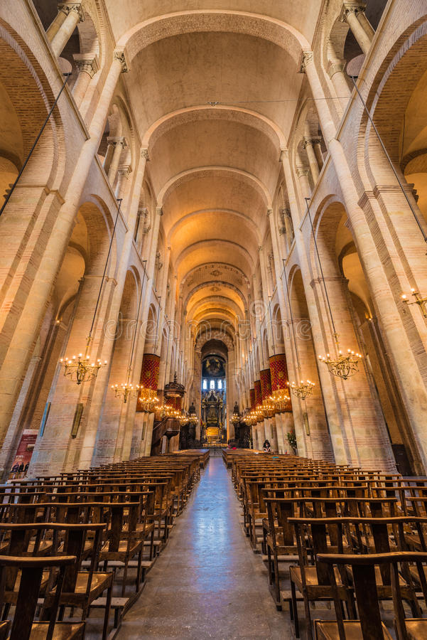 Die Basilika von St. Sernin in Toulouse, Frankreich stockfotos