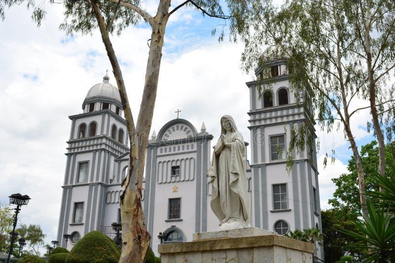 Die Basilika von Suyapa-Kirche in Tegucigalpa, Honduras stockbild