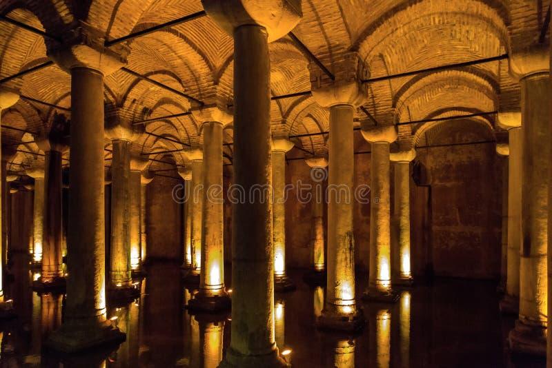 Die Basilika-Zisterne, Istanbul lizenzfreie stockfotografie