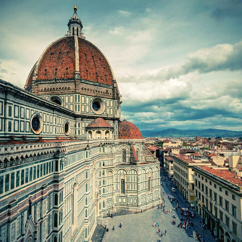 Die Basilikadi Santa Maria Del Fiore in Florenz, Italien stockbild