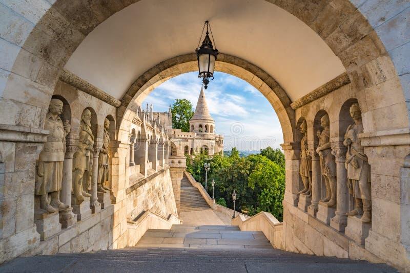 Die Bastion des Fischers - Budapest - Ungarn lizenzfreies stockbild
