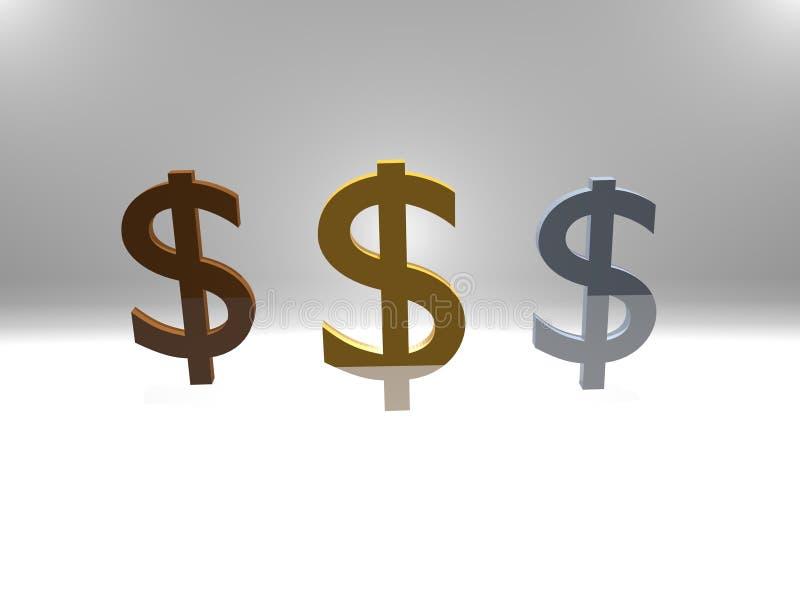 Die Bedeutung der Finanzierung und der Währungen lizenzfreie abbildung