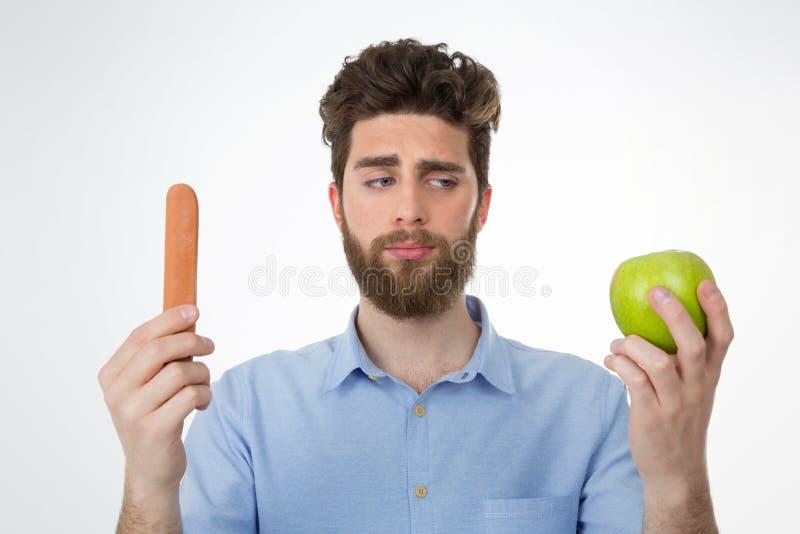 Die Bedeutung des Wählens einer gesunden Nahrung lizenzfreie stockfotos