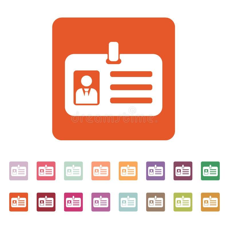 Die Beglaubigungsikone Aufnahme und Ausweis, Identifizierung, Durchlaufsymbol stock abbildung