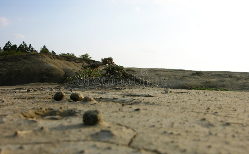 Die Begrenzung auf eine Wüste lizenzfreie stockbilder