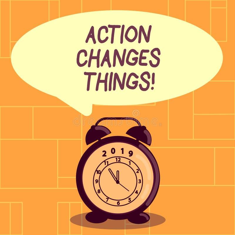 Die Begriffshandschrift, die Aktion zeigt, ändert Sachen Das zur Schau stellende Geschäftsfoto, sich zu verbessern stehen nicht n stock abbildung