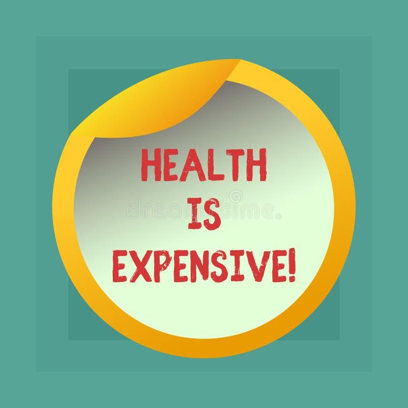 Die Begriffshandschrift, die Gesundheit zeigt, ist teuer E vektor abbildung