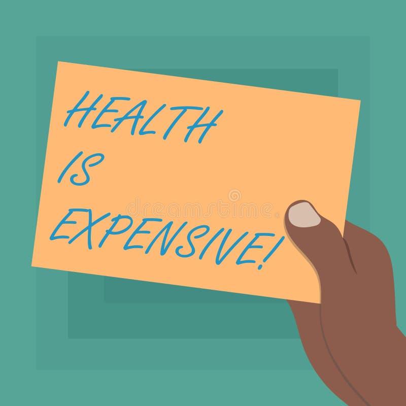 Die Begriffshandschrift, die Gesundheit zeigt, ist teuer E stock abbildung