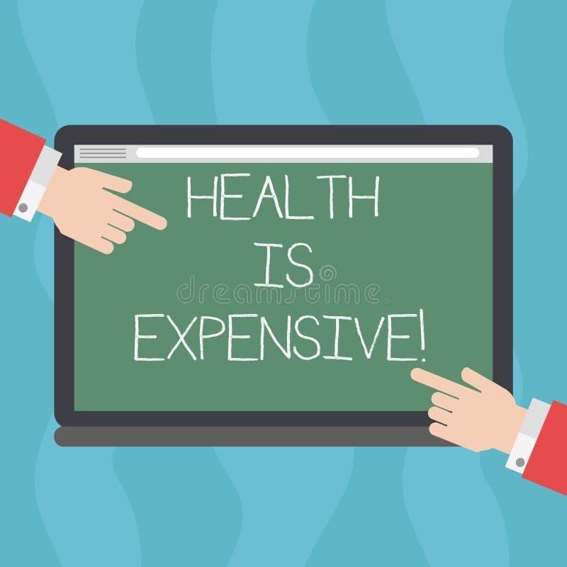 Die Begriffshandschrift, die Gesundheit zeigt, ist teuer Geschäftsfototext mach's gut Körper essen gesunden Spielsport zu verhind lizenzfreie abbildung