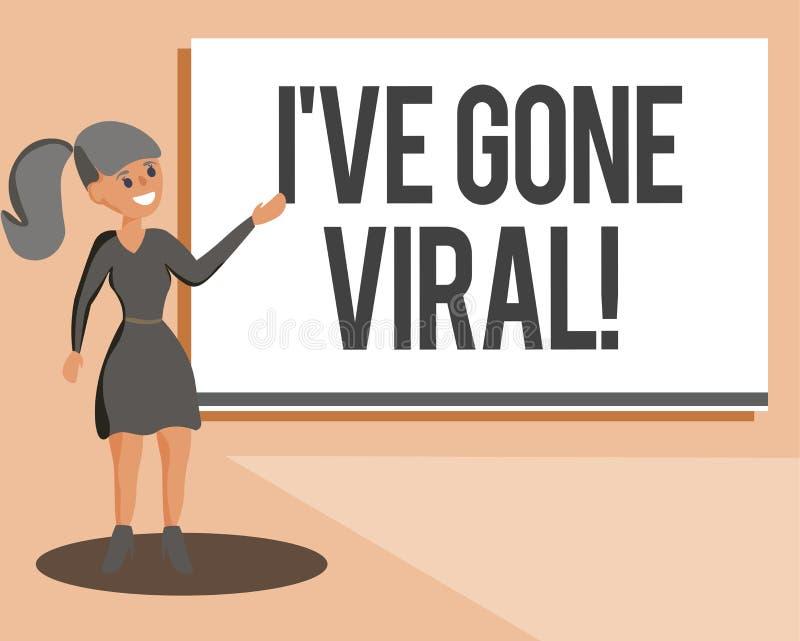 Die Begriffshandschrift, die Ive zeigt, sind Viren gegangen Präsentationsmedizinischer begriff des Geschäftsfotos verwendet, um k vektor abbildung