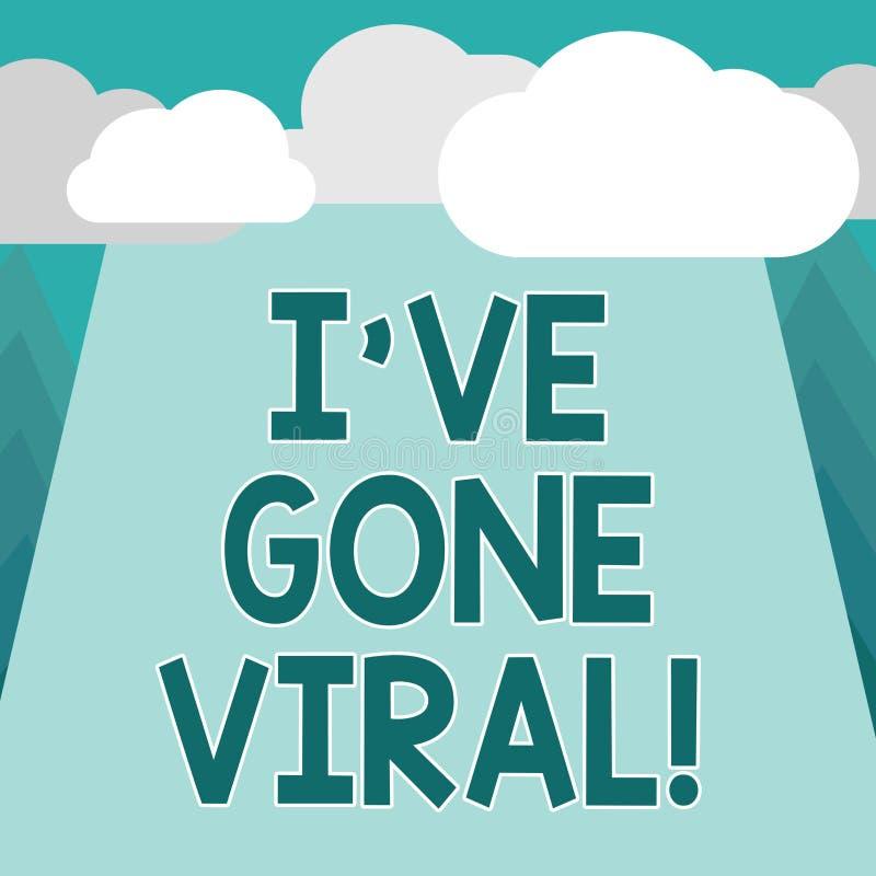 Die Begriffshandschrift, die Ive zeigt, sind Viren gegangen Präsentationsmedizinischer begriff des Geschäftsfotos verwendet, um k stock abbildung