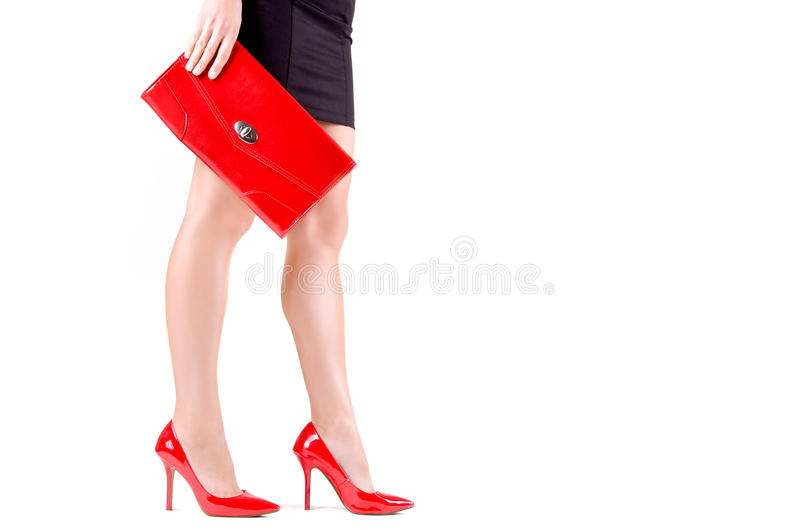 Die Beine der schönen schlanken Frauen stockbild