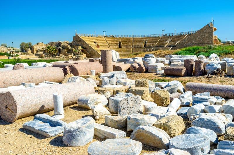 Die Beispiele der römischen Architektur lizenzfreie stockfotografie