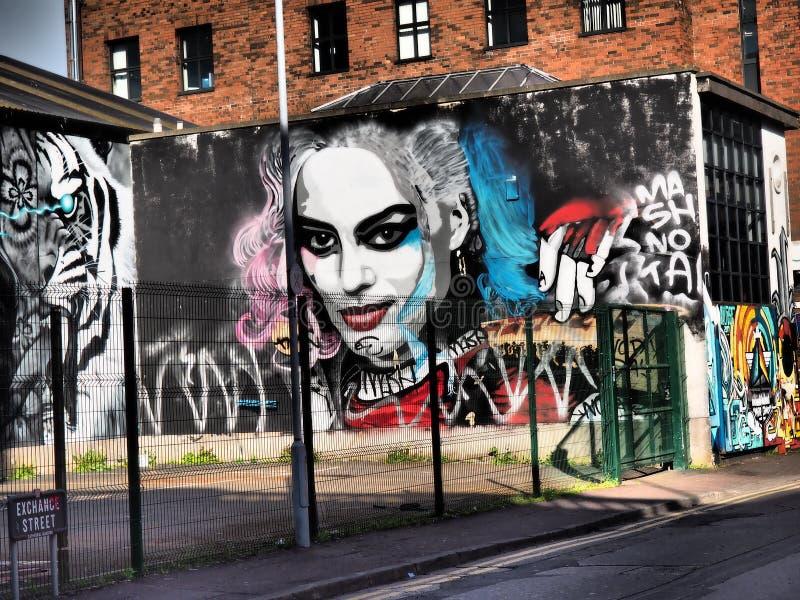 Die Belfast-Friedenswand-Wandgem?lde 2018 lizenzfreies stockbild