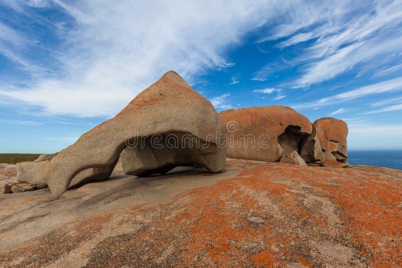 Die bemerkenswerten Felsen, Känguru-Insel, Süd-Australien lizenzfreies stockbild
