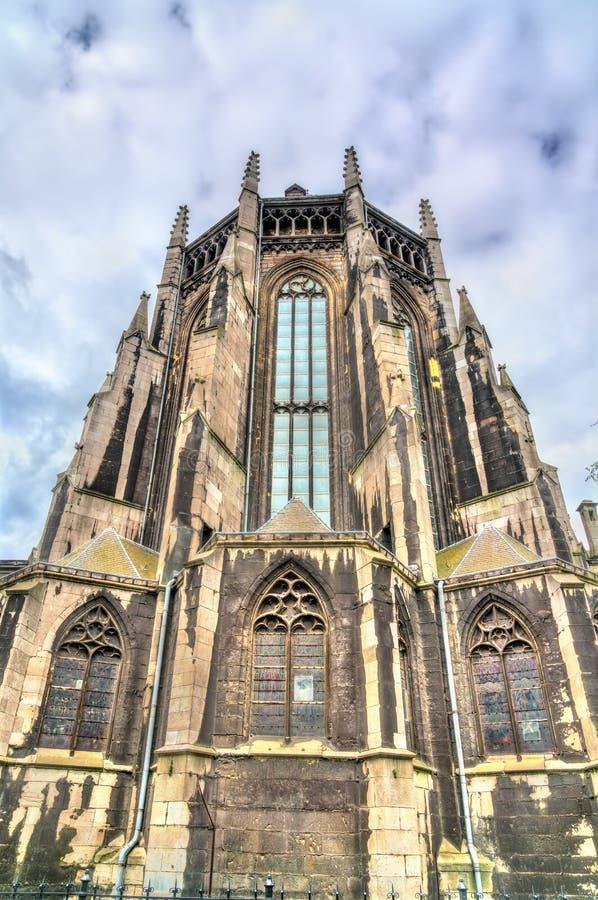 Die Benediktiner-Abtei von St James die kleiner in Lüttich, Belgien lizenzfreies stockbild