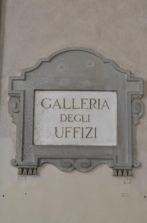 Die berühmte Uffizi-Galerie stockbild