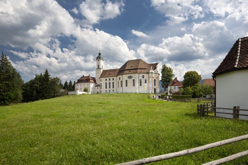 Die berühmte Wieskirche-Kirche im Bayern, Deutschland stockfotos