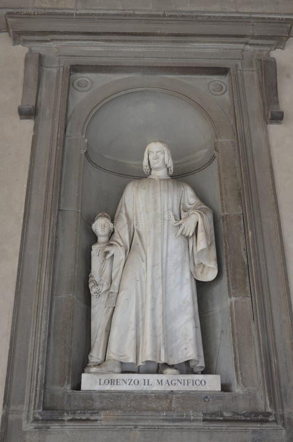 Die ber?hmte Uffizi-Galerie lizenzfreies stockbild