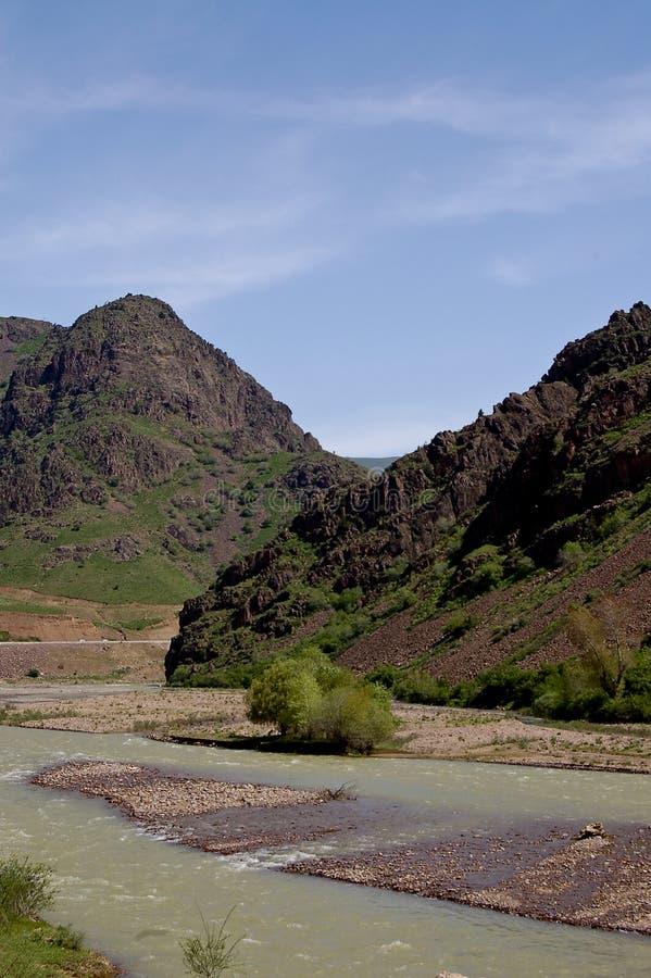 Die Berge im Ferghanatal stockfoto