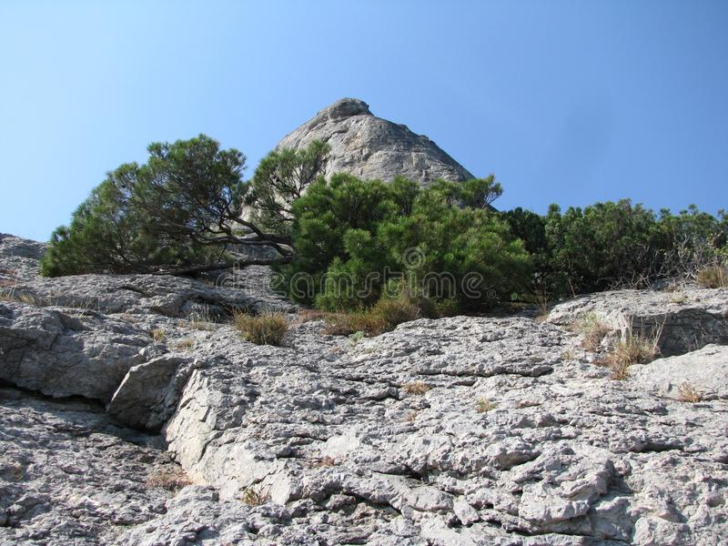 Die Berge sind eine ausgezeichnete Schaffung der Natur lizenzfreies stockbild