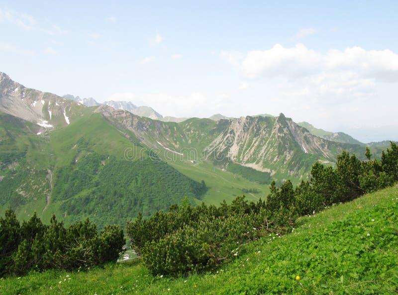 Die Berge von Liechtenstein lizenzfreie stockfotos