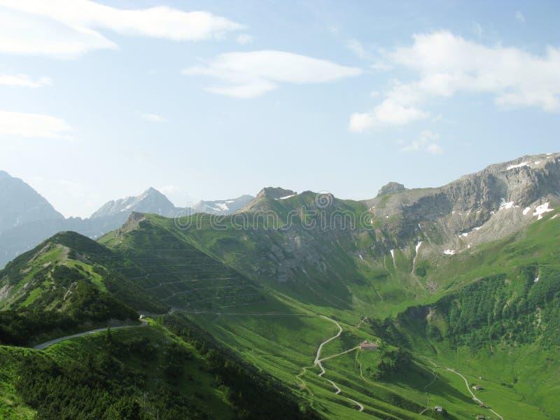 Die Berge von Liechtenstein stockbild