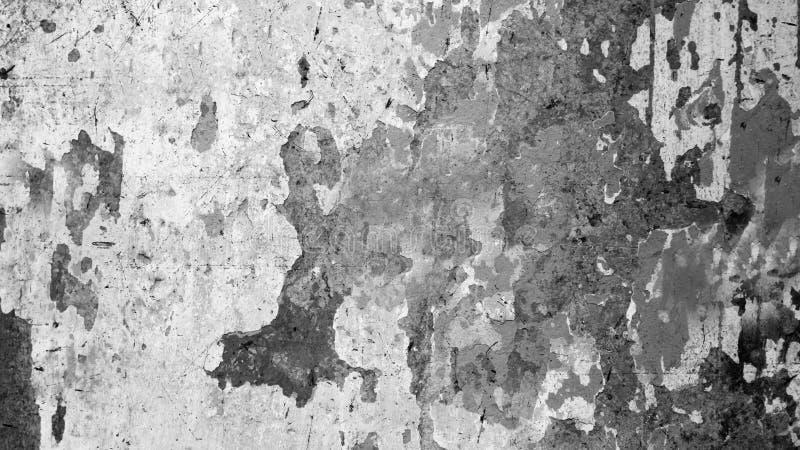 Die Beschaffenheit der alten verfallenen Betonmauer mit schwarzem Fleck lizenzfreie stockfotos