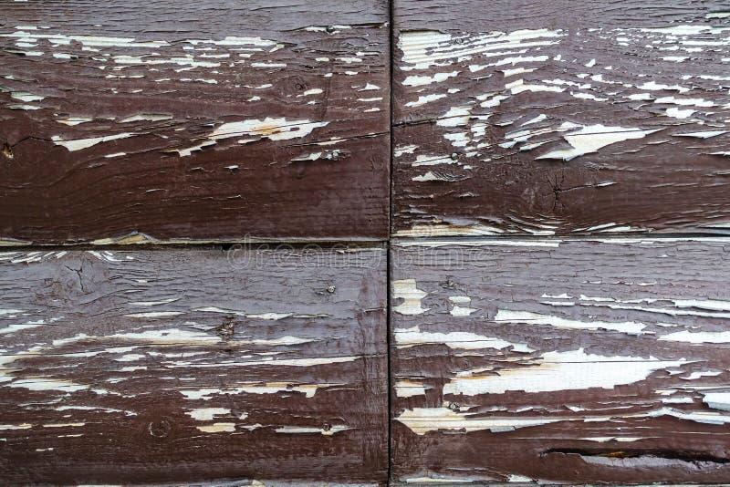 Die Beschaffenheit des Brettes mit der Schale der Farbe Abstrakter Hintergrund f?r Auslegung Brown mit wei?en gerundeten Brettern stockbilder