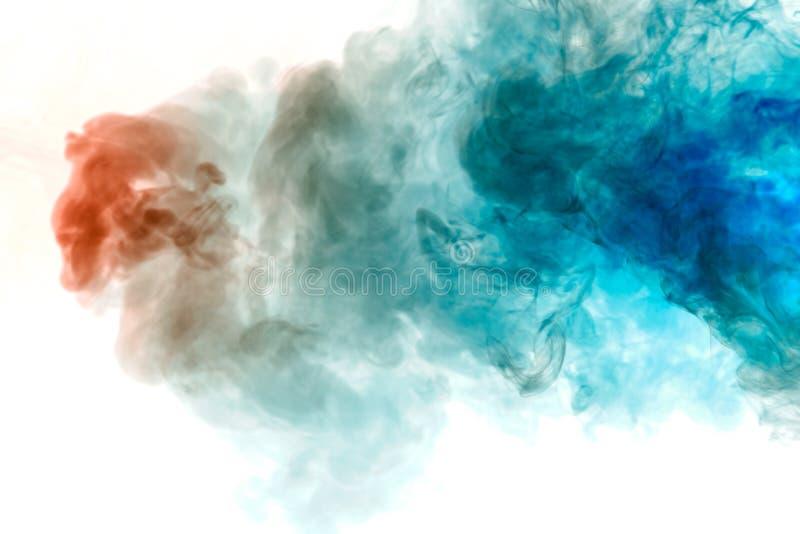 Die Beschaffenheit des grauen Rauches ist wie ein Aquarell auf einem weißen Hintergrund mit Übergängen der Angelegenheit zwischen vektor abbildung