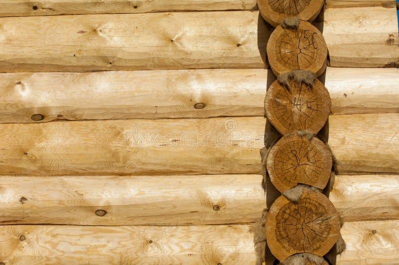Die Beschaffenheit des Holzhauses lizenzfreies stockfoto