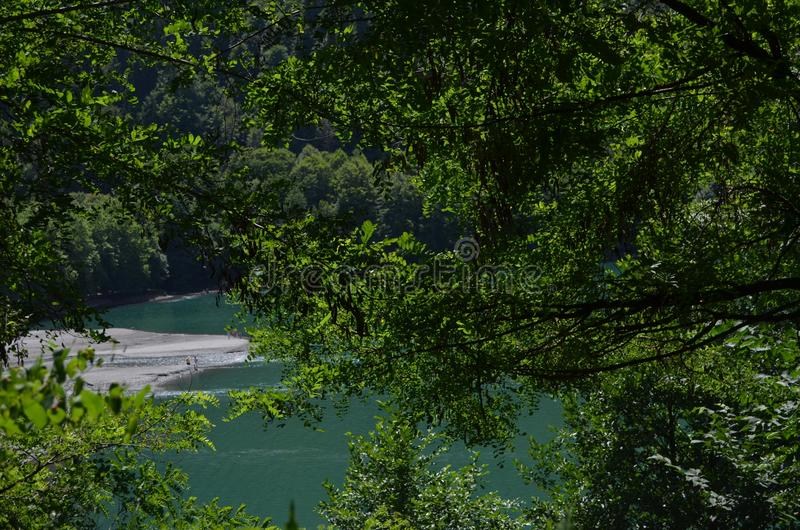 Die Beschaffenheit von Abchasien lizenzfreies stockfoto