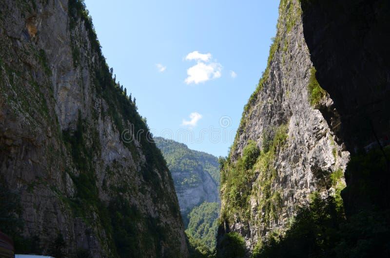 Die Beschaffenheit von Abchasien stockbild