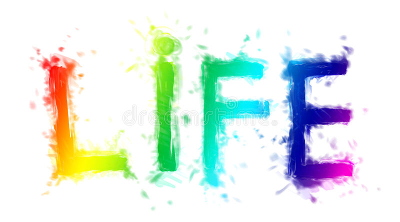 Die Beschreibung ?Leben? vektor abbildung