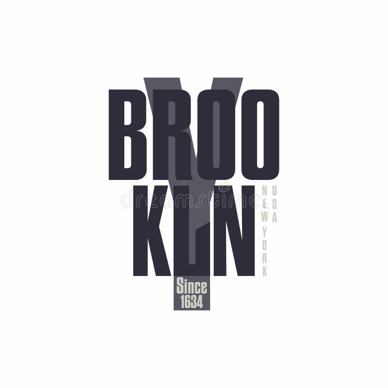 Die Beschriftung Bronx New York City T-Shirt Druckdesign stock abbildung