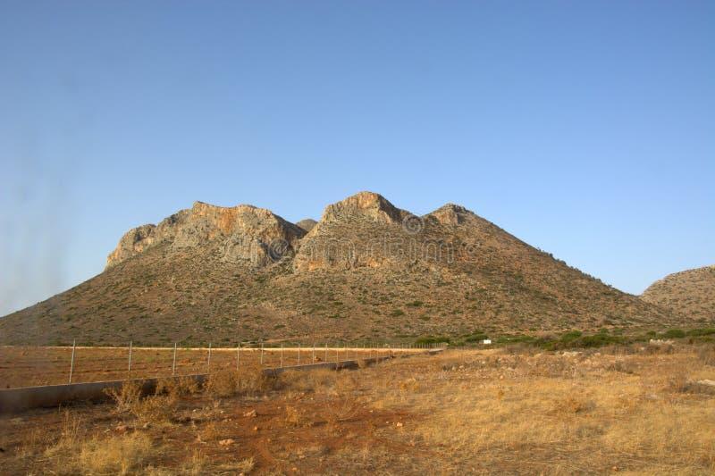 die besonders trockene Wüste von Sinai stockbilder