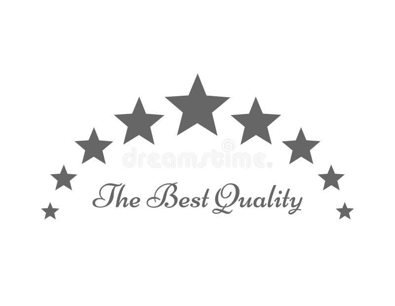 Die beste Qualität spielt Symbol oder Logo die Hauptrolle stock abbildung
