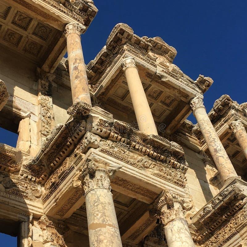 Die Bibliothek bei Ephesus lizenzfreie stockfotografie