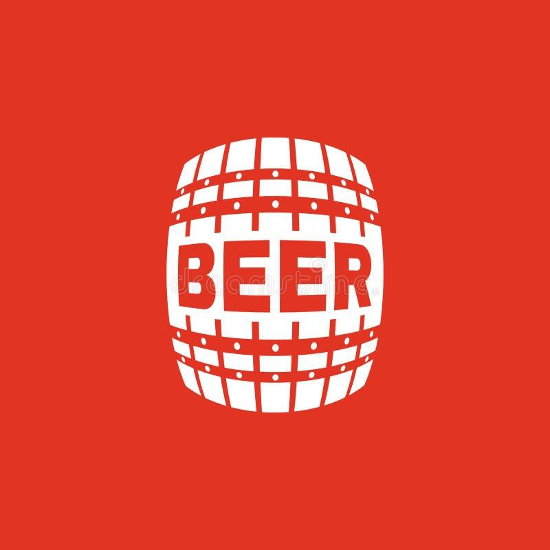 Die Bierikone Tonne und Fass, Alkohol, Biersymbol Ui web zeichen zeichen Flaches Design app ablage lizenzfreie abbildung