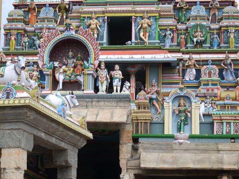 Die bildhauerischen Wunder von altem Indien stockbild
