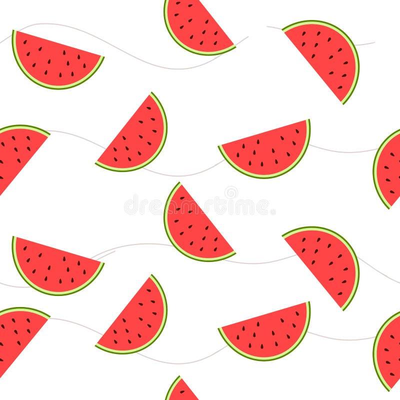 Die Bildscheiben der Wassermelone mit Samen lizenzfreies stockfoto