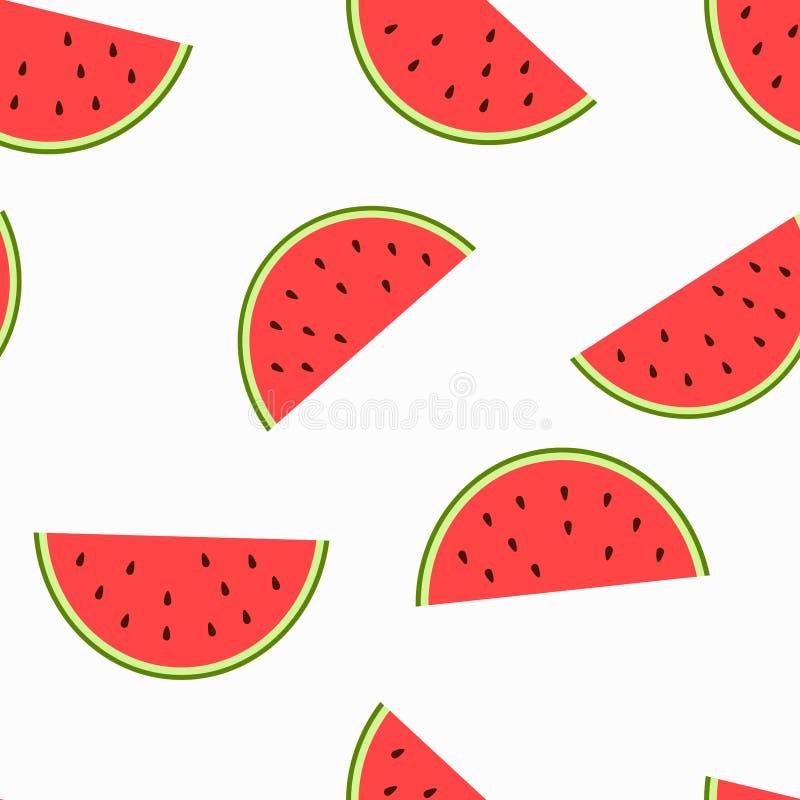Die Bildscheiben der Wassermelone mit Samen stockfotos